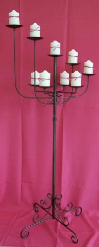 Bronze 9 Candle Candelabra