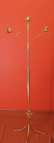 Brass Trinity Candelabra