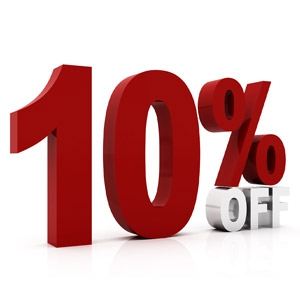 10% off Select Retail Items