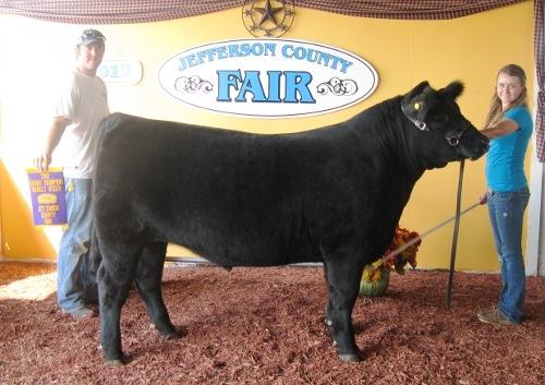 Miranda Dodson- Grand Champion Steer 2012 Jefferson Co WV Fair (Steer's name- Halivor)