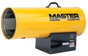 Master HEATERS PROPANE FORCED AIR HEATERS 375k BTU