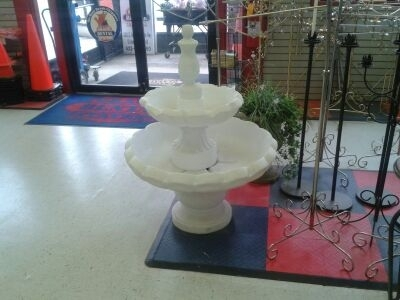 White Bird Bath Fountain
