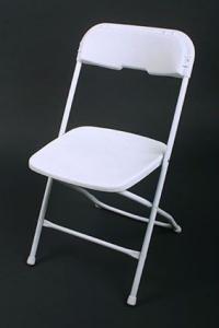 Plastic Folding Chair White