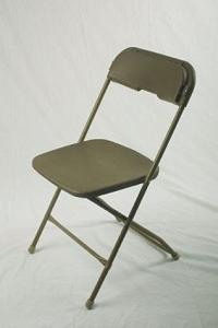 Plastic Folding Chair Brown