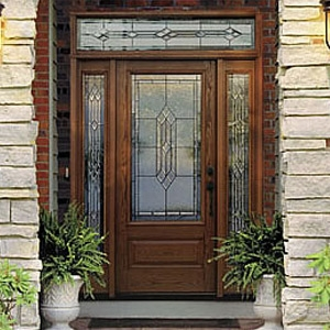 Therma tru doors classic craft oak fiberglass entry door for Therma tru fiberglass entry doors prices