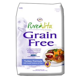 Pure-Vita Grain Free Turkey Dry Dog Food