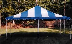 20X20 Blue and White Stripped Tent