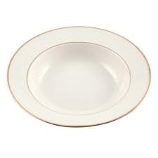 Gold Rim Large Bowl