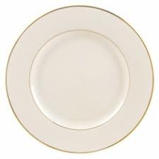 Gold Rim Lunch Plate