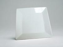 China White Square Salad Plate