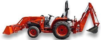 Kubota 4x4 Tractor Backhoe