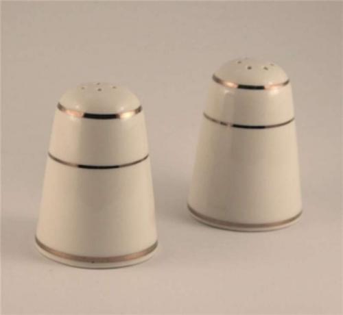 Gold Rim Salt and Pepper Shaker