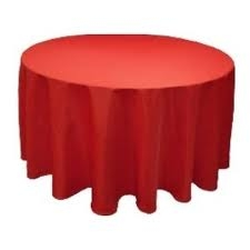 Tablecloth - Red Round 96