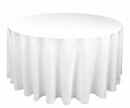 Tablecloth - White Round 96