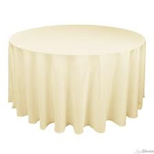 Tablecloth, Ivory Round 120