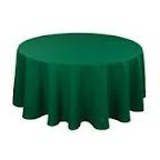 Tablecloth - Hunter Green Round 96