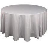 Tablecloth - Silver Round 102