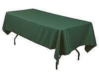 Tablecloth, Hunter Green Long