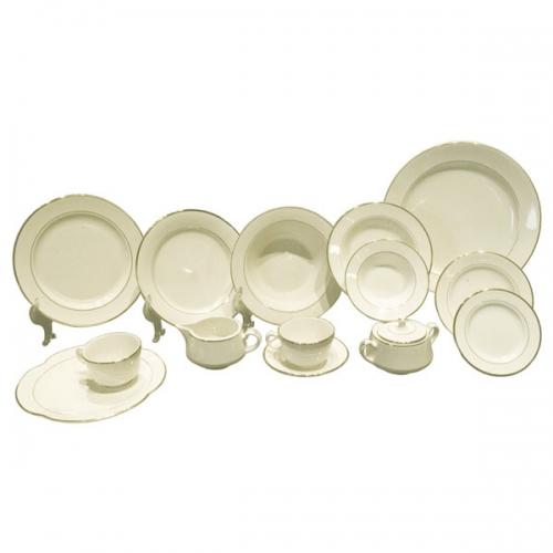 Dinnerware - China Ivory/Gold