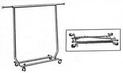 COAT RACK, SINGLE RAIL, COLLAPSIBLE