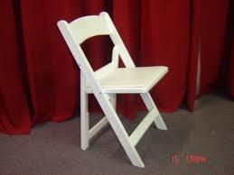 Chair, White Resin