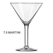 GLASS, MARTINI 7.5 OZ