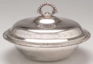 Silver Casserole Dish