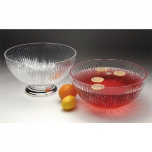 Glass Punch Bowl with Pedestal, 8qt