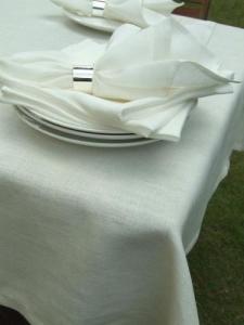 Linen,  White Dinner Napkin