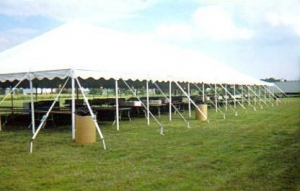 Tent, White Pole 40' x 180'