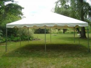 Tent, White Frame 15' x 15'