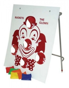 Bean Toss Game, Clarence the Clown