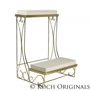 Koch Originals Kneeling Bench, Brass Pair