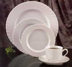White Swirl Dinner Plate, 10