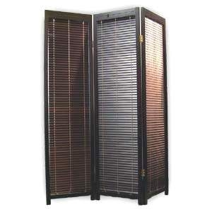 Privacy Room Divider, Dark Wood