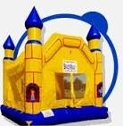 INFLATABLE CASTLE, (YELLOW AND BLUE)