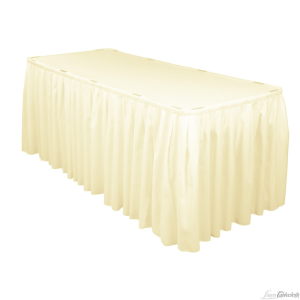 Ivory Linen Table Skirt