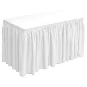 White Linen Table Skirt