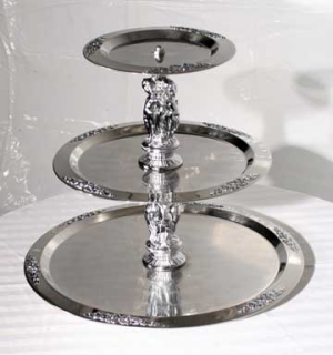 3 Tier Stainless Serving Tray