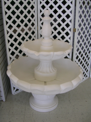 Two Tier White Water Fountain
