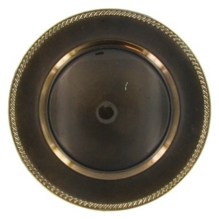 Brown Plastic Plate Charger
