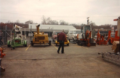 Uncle Bob Surveying the Equipment 1988
