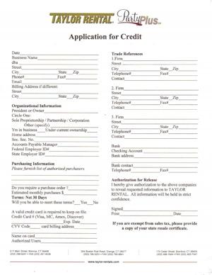 Credit Application