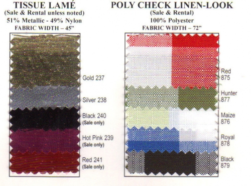 Tissue Lamé & Poly Check Linen-Look