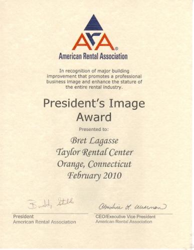 ARA President's Image Award 2010