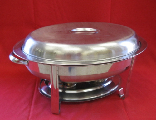 Chafer Stainless Oval 6 qt