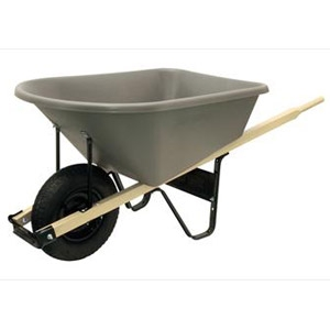 True Temper Poly Wheelbarrow  6 cu.ft.