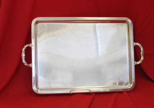 Silver Rectangular Tray 16