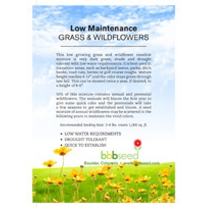 BBB Seed Low Maintenance Grass & Wildflower Mix 1lb.