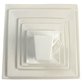 White Square Dishes